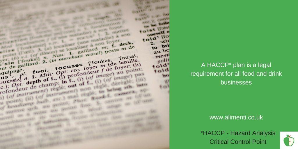 HACCP Legal requirement